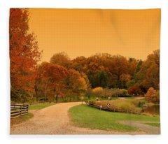 Autumn In The Park - Holmdel Park Fleece Blanket