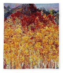 Autumn In The Pioneer Valley Fleece Blanket