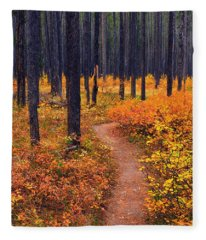 Autumn In Yellowstone Fleece Blanket