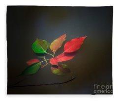 Autumn Leaves Floating Fleece Blanket