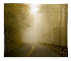 Autumn Mist Blue Ridge Parkway Fleece Blanket