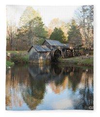 Autumn Morning At Mabry Mill Fleece Blanket