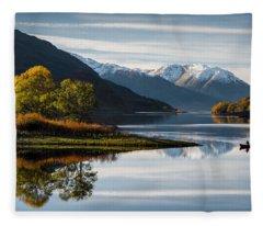 Autumn On Loch Leven Fleece Blanket