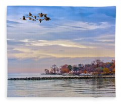 Autumn On The Chesapeake Bay Fleece Blanket