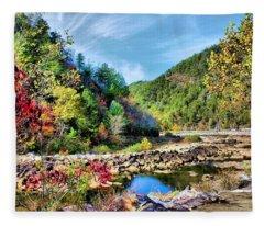 Autumn On The Ocoee Fleece Blanket