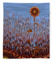 Autumn On Venus Fleece Blanket