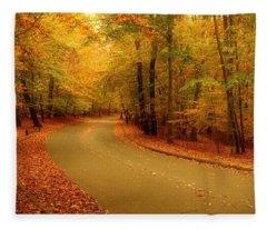 Autumn Serenity - Holmdel Park  Fleece Blanket