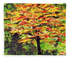 Autumn Splendor Fleece Blanket