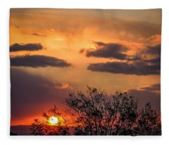 Autumn Sunrise Fleece Blanket