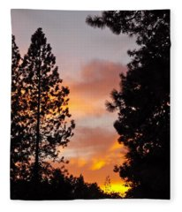Autumn Sunset Fleece Blanket