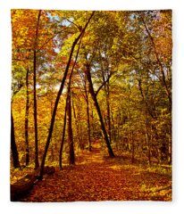 Autumn Trails Fleece Blanket
