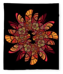 Autumn Wreath Fleece Blanket