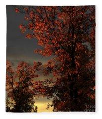 Autumn's First Light Fleece Blanket