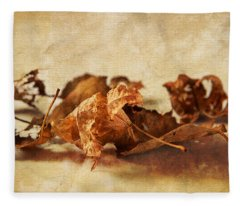 Autumn's Leavings Fleece Blanket