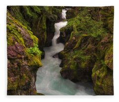 Avalanche Falls Fleece Blanket