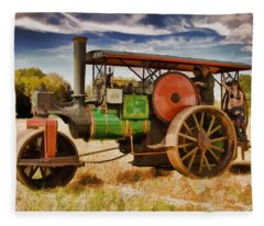 Aveling Porter Road Roller Fleece Blanket