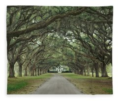147706-avenue Of The Oaks  Fleece Blanket