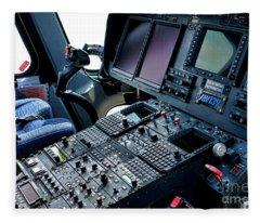 Aw139 Cockpit Fleece Blanket