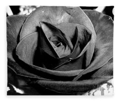 Awakened Black Rose Fleece Blanket