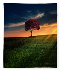 Sunset Fleece Blankets