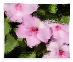 Azaelas Under Glass Fleece Blanket
