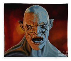 Azog The Orc Painting Fleece Blanket