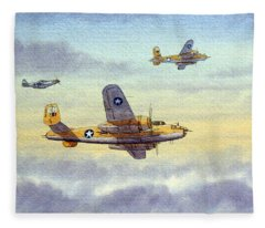 B-25 Mitchell Fleece Blanket
