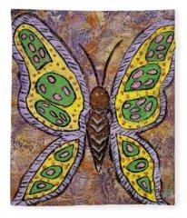 B Is For Butterfly Fleece Blanket
