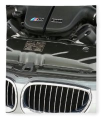 B M W M5 V10 Motor Fleece Blanket