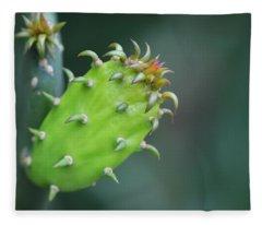 Baby Cactus - Macro Photography By Sharon Cummings Fleece Blanket