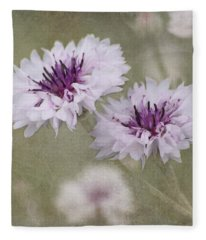 Bachelor Buttons - Flowers Fleece Blanket