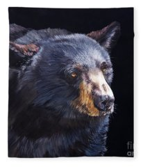 Back In Black Bear Fleece Blanket
