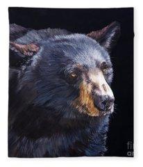 Back In Black Bear Fleece Blanket