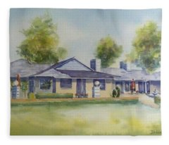 Back Of House Fleece Blanket