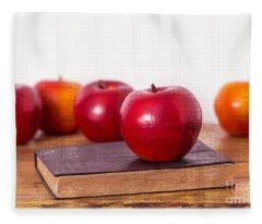 Back To School Apples Fleece Blanket