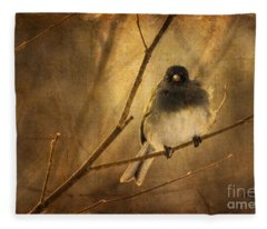 Backlit Birdie Being Buffeted  Fleece Blanket