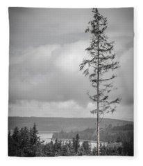 Tall Tree View Fleece Blanket