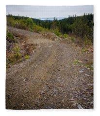 4x4 Logging Road To Adventure Fleece Blanket