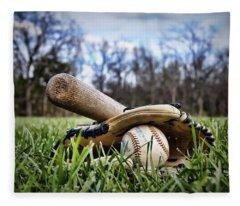 Backyard Baseball Memories Fleece Blanket