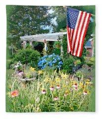 Backyard Paradise Fleece Blanket