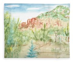 Backyard Sedona Fleece Blanket