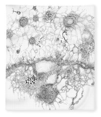 Bacteriophage Ballet Fleece Blanket