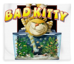 Bad Kitty Fleece Blanket