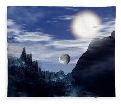 Bad Moons On The Rise Fleece Blanket