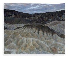 Badlands At Sunrise. Death Valley Fleece Blanket