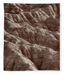 Badlands Light Bw Fleece Blanket