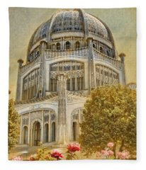 Baha'i  Temple In Wilmette Fleece Blanket