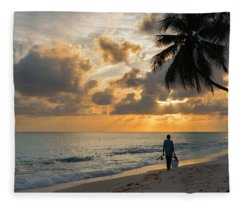 Bajan Fisherman Fleece Blanket