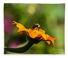 Balancing Bumblebee Fleece Blanket