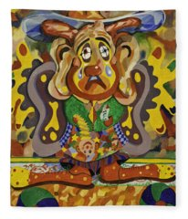 Balancing Clown Fleece Blanket